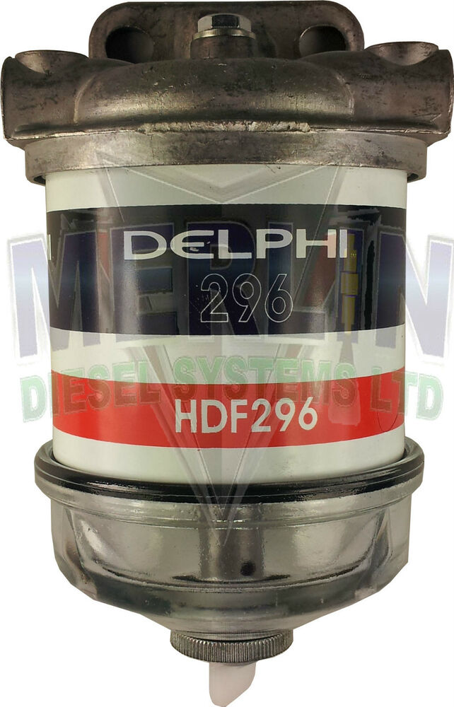 Single Water Separator Assembly Diesel Fuel Filter Glass