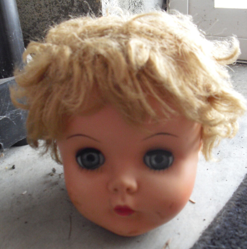 Vintage 1960s Vinyl U11 Girl Doll Head Sleepy Eyes 5 Quot Tall