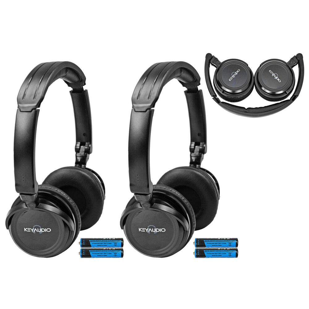 2 fold in wireless infrared dvd rear headphones headset for Mercedes benz wireless headphones