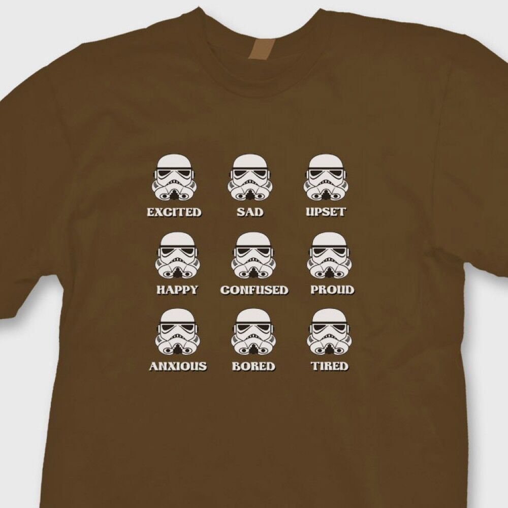 stormtrooper emotions star wars funny t shirt darth vader