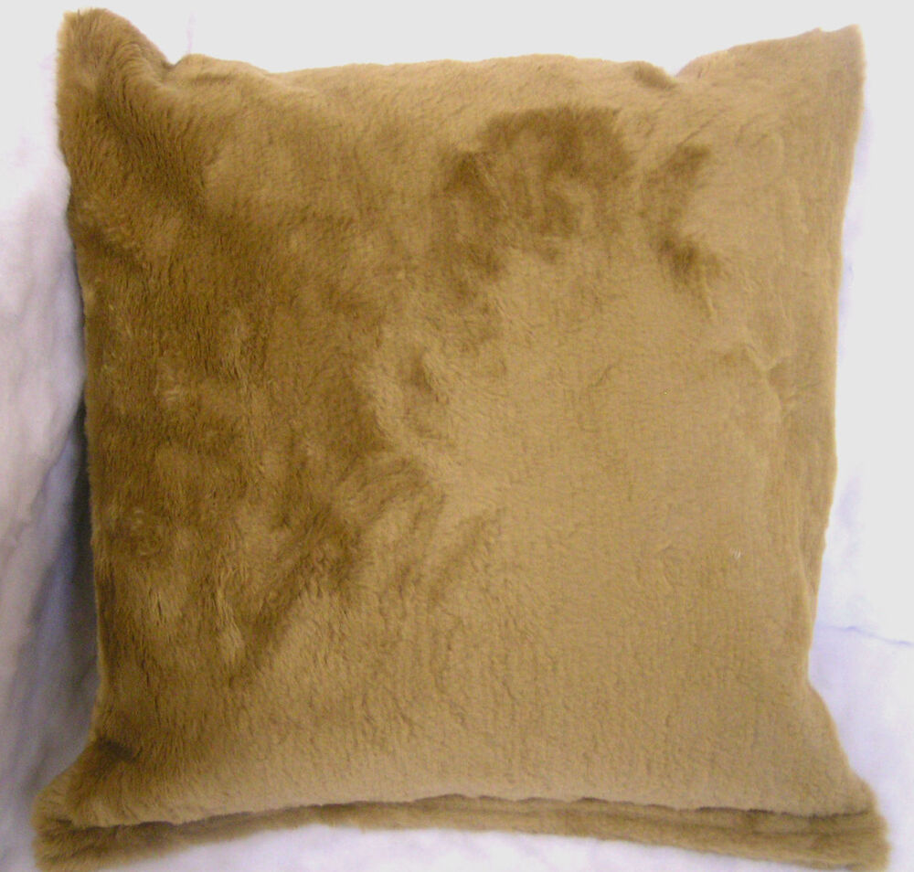luxury medium brown faux fur scatter cushion covers. Black Bedroom Furniture Sets. Home Design Ideas