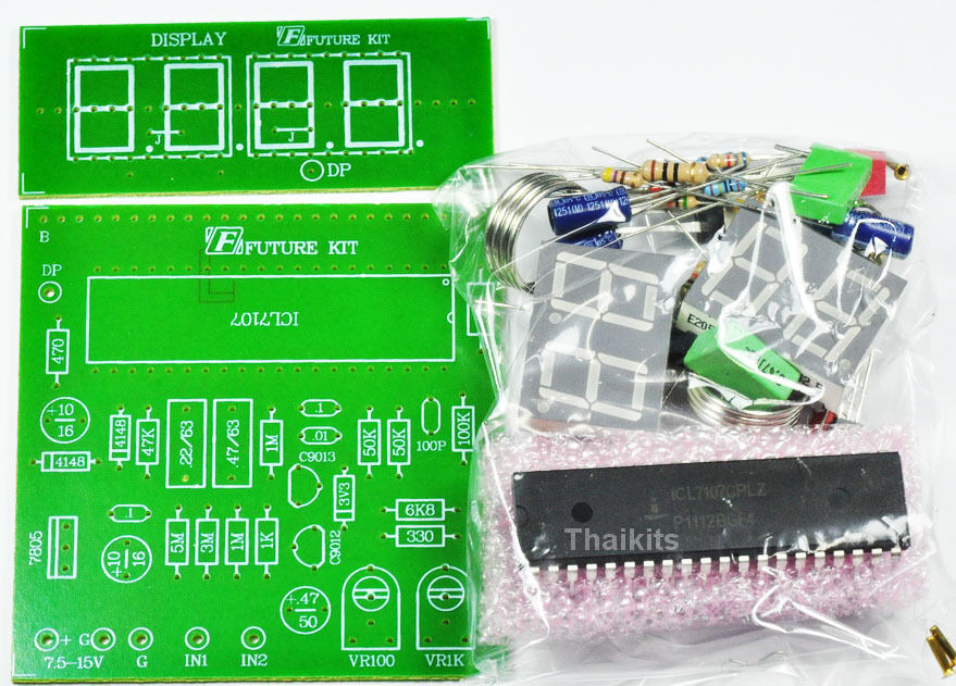 Digital Voltmeter Kit : V dc digital volt meter unassembled kit icl