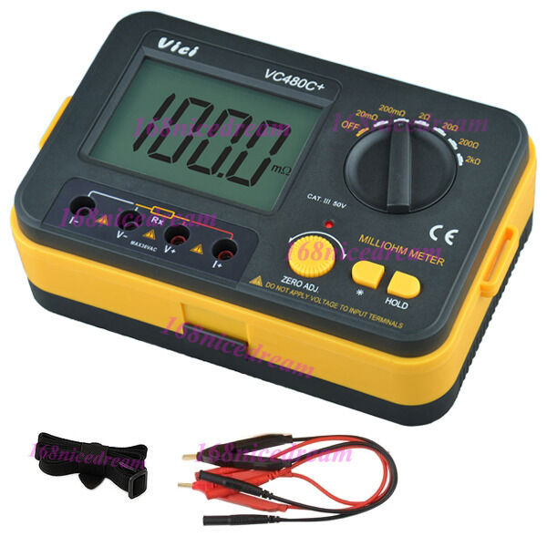 4 Wire Ohmmeter : Vichy vc c digital milli ohm meter multimeter