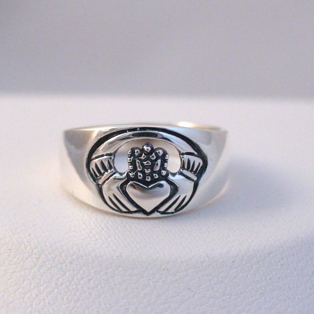 claddagh ring 925 sterling silver celtic jewelry