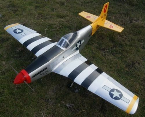 65in Balsa P 51d Mustang Electric Nitro Powered 6ch Rc R C