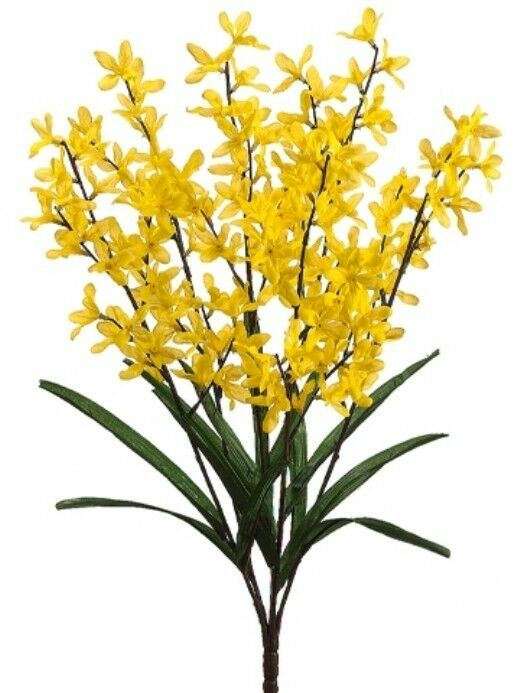 23 Quot Forsythia Flower Bush Pack Of 6 Artificial Flower