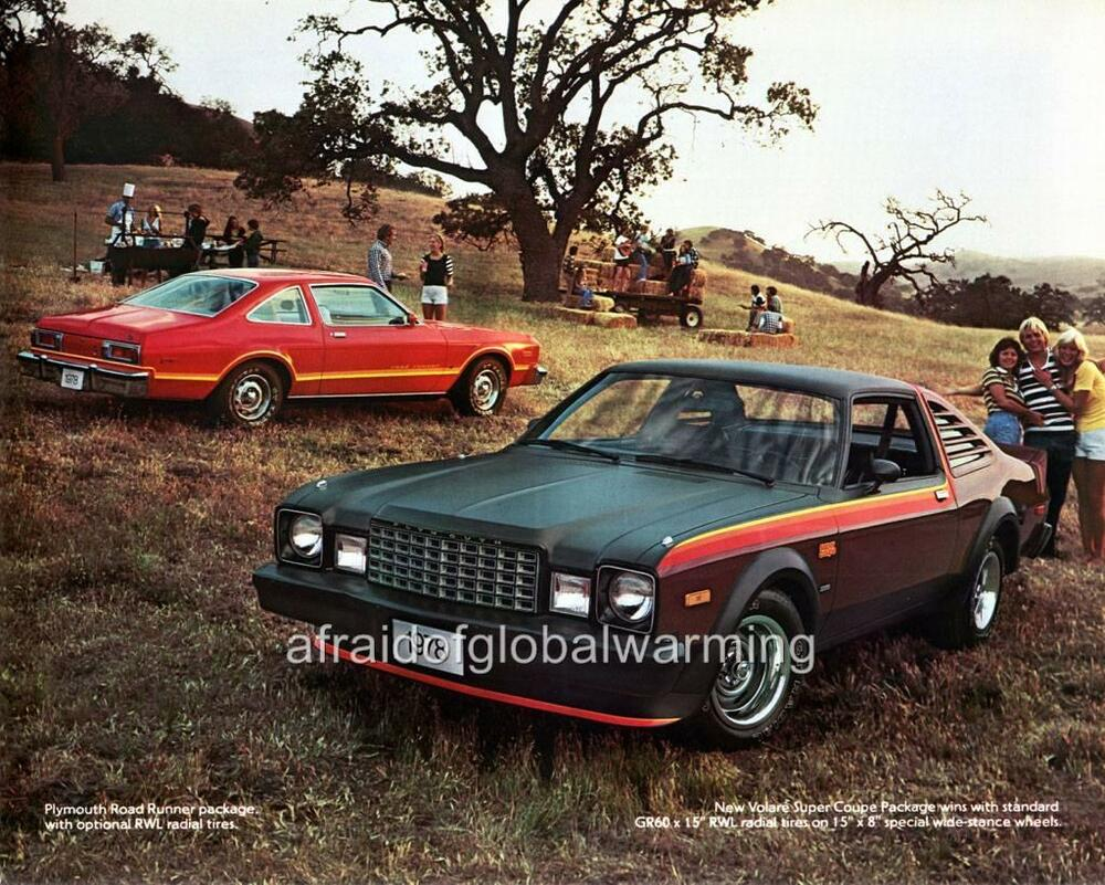 Old Print 1978 Plymouth Volare Super Coupe Amp Road Runner