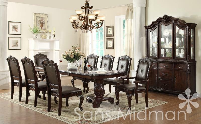 New Kira 10 Pc Formal Dining Set Table W 2 Leaves 8