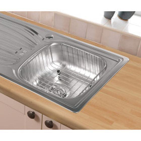 Laundry Sink With Drainer : STAINLESS STEEL SINK WASHING BOWL WIRE BASKET DRAINER eBay