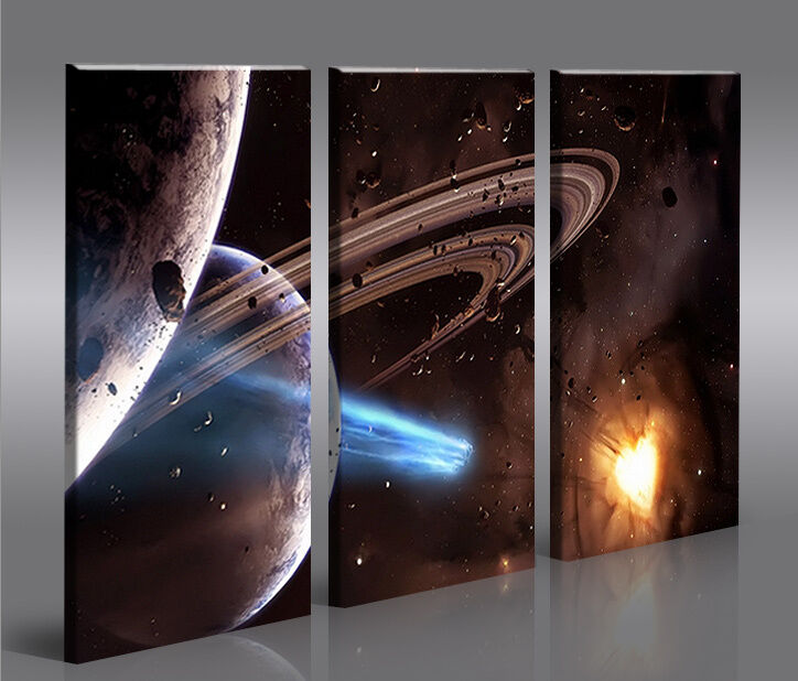 space wars v6 3 bilder star xxl auf leinwand wandbild poster ebay. Black Bedroom Furniture Sets. Home Design Ideas