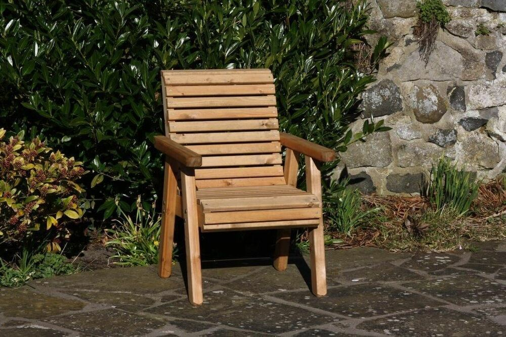 High Back Patio Furniture: Wooden Garden Chair / Furniture / Patio Set High Back Roll