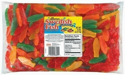 Sweetgourmet swedish fish large assorted juju candy 5lb for Assorted swedish fish