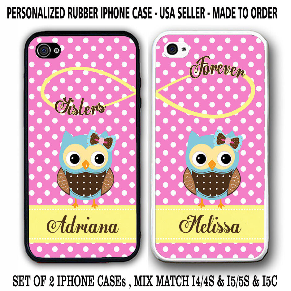 best friend iphone cases pink polka dots owl bff best friends forever cases 9118