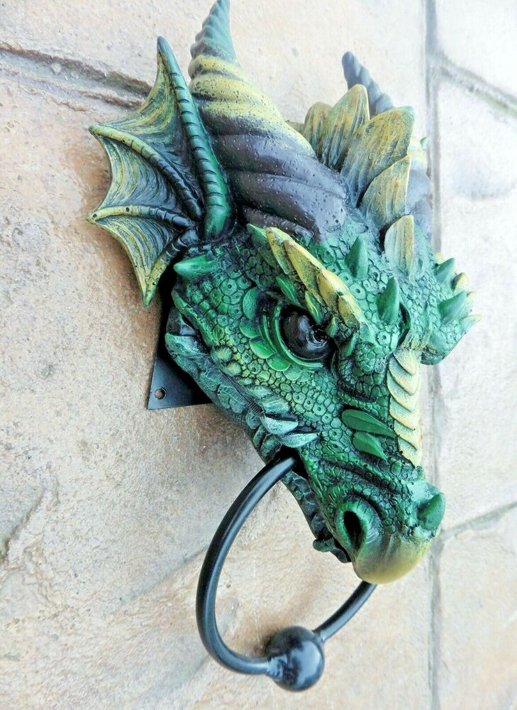 Gothic dragon head door knocker amazing ebay - Dragon door knocker ...