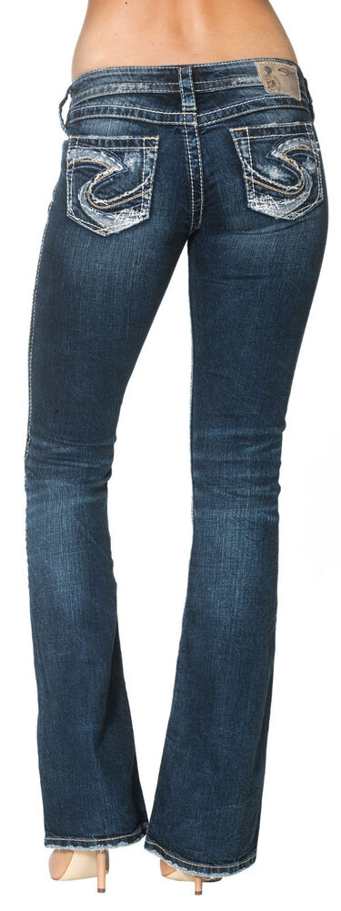 New Silver Womens Jeans Twisted Bootcut Silvers 28x33 ...