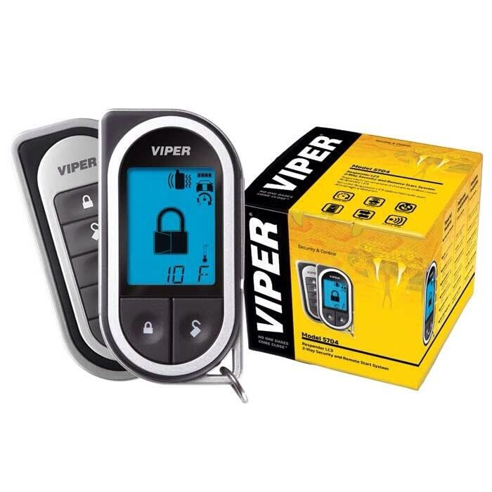 5704 Viper Car Alarm And Remote Start With 2 Way Pager Ebay