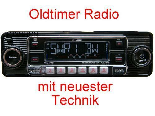retro look radio altes autoradio schwarz oldtimer vw. Black Bedroom Furniture Sets. Home Design Ideas