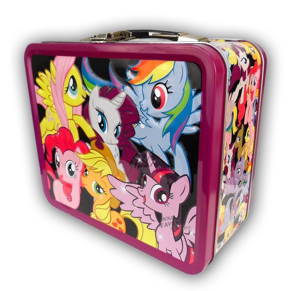 my little pony group rainbow dash fluttershy mlp tin tote. Black Bedroom Furniture Sets. Home Design Ideas