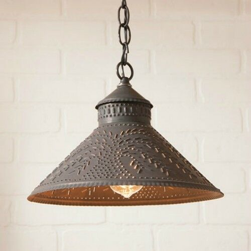 stockbridge hanging shade light willow punched tin ceiling
