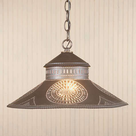 Shopkeeper Pendant Shade Down Light Chisel Punched Tin