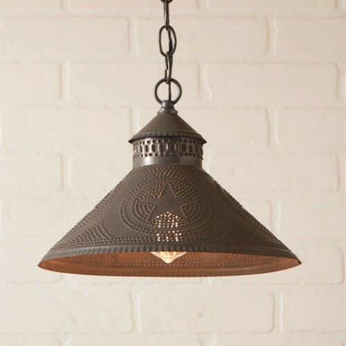 Stockbridge Hanging Shade Light With Country Primitive