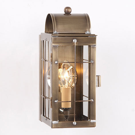 Cape cod colonial revival exterior wall lantern copper for Colonial style outdoor light fixtures