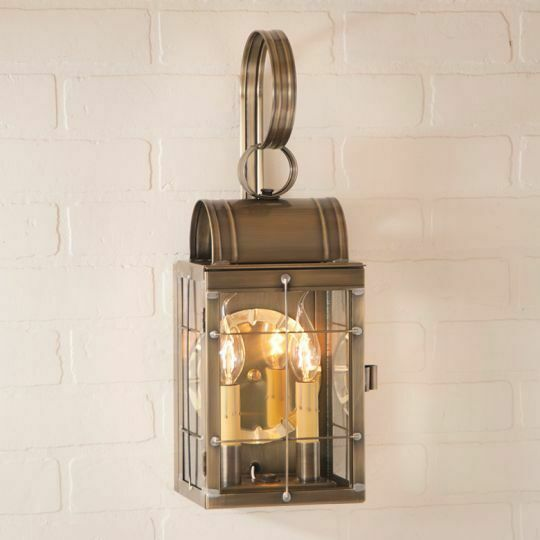 Double Wall Lantern Exterior Porch Patio Welcome Light In Antique Copper Br