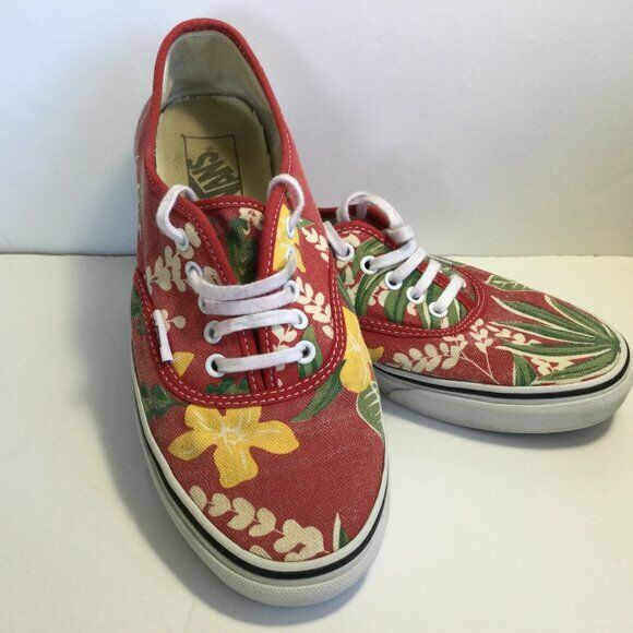 76eb0fd676d Details about VANS ERA VAN DOREN MENS 3.5 WOMENS 5 RED HAWAIIAN SHOES  FLORAL NIB