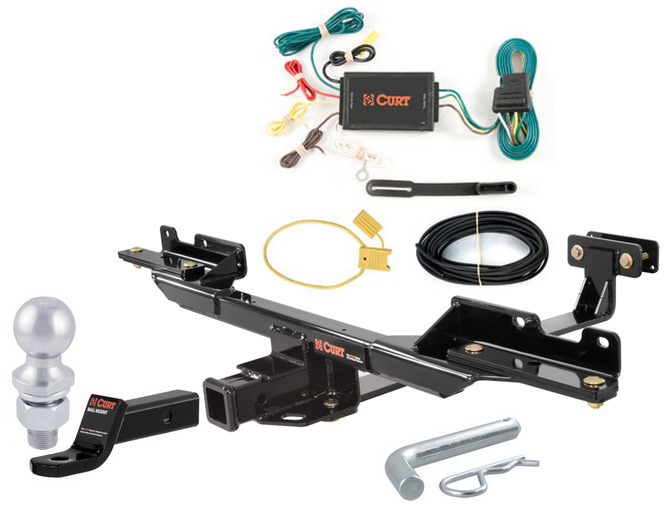 curt class 3 trailer hitch tow package for mercedes benz