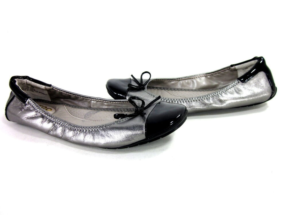 ME TOO WOMENu0026#39;S LUCCA FASHION COMFORT FLAT PEWTER SHOES LEATHER US SIZE 6 MEDIUM | EBay