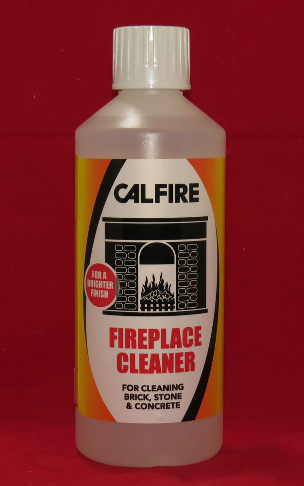 Calfire fireplace cleaner soot tar remover for brick for Best degreaser for concrete