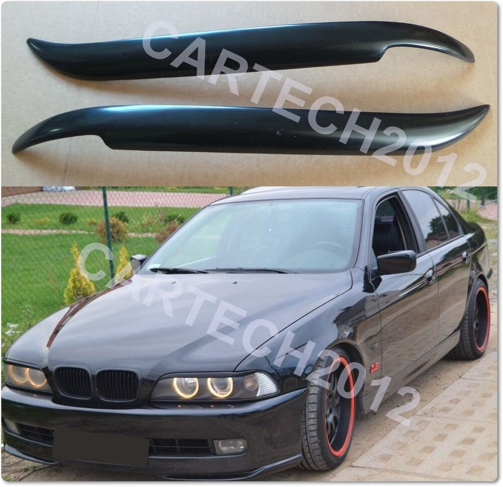 bmw e39 headlights eyebrows abs plastic 5 series tuning. Black Bedroom Furniture Sets. Home Design Ideas