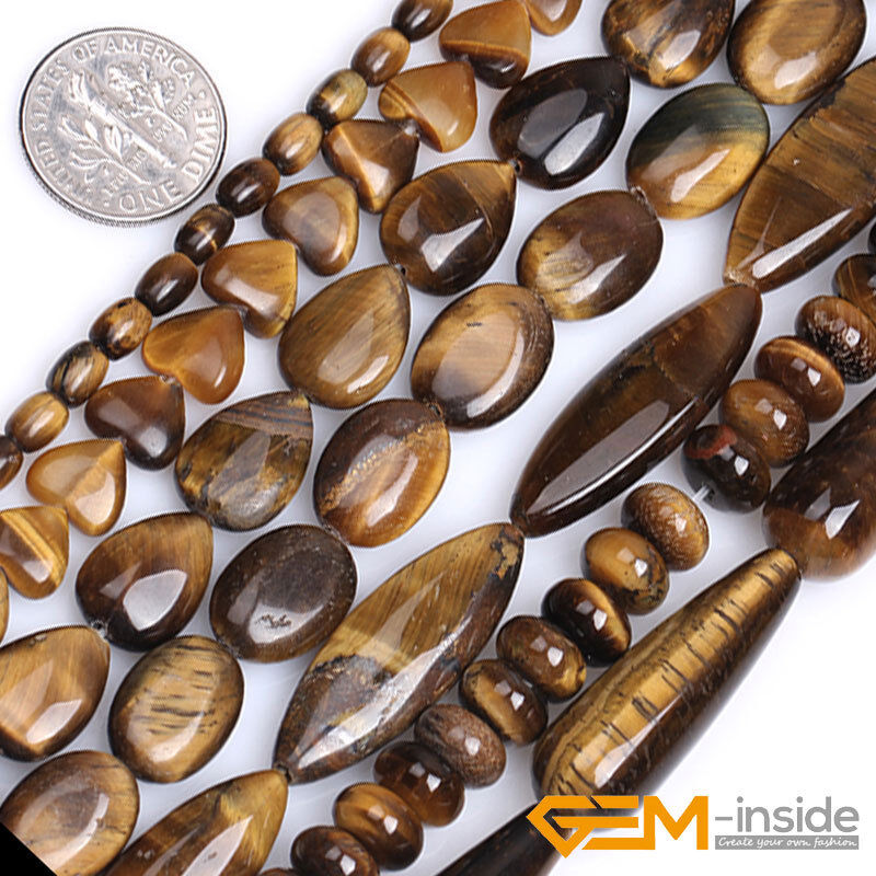 Wholesale natural assorted shapes tiger 39 s eye gemstone for Birthstone beads for jewelry making