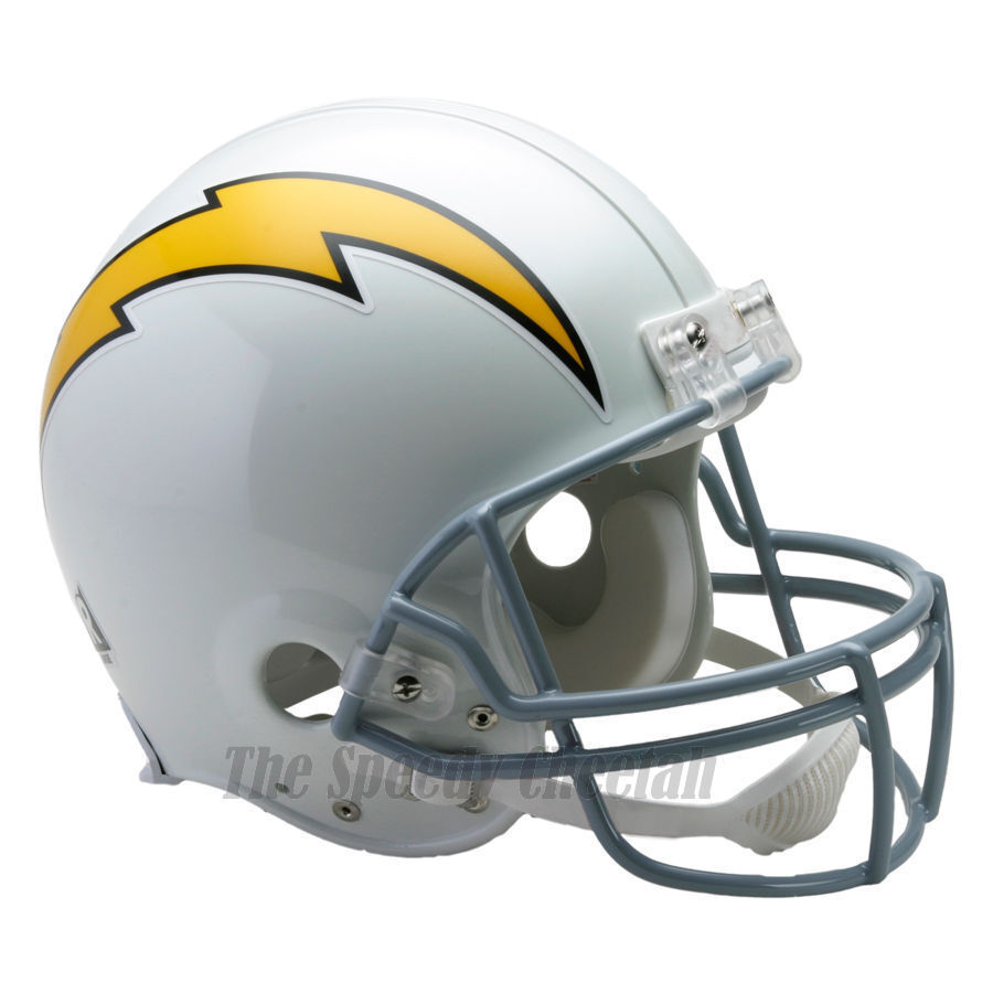 San Diego Chargers Football Helmet: SAN DIEGO CHARGERS 61-73 RIDDELL NFL THROWBACK AUTHENTIC
