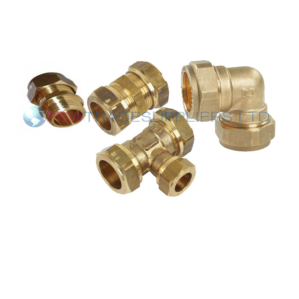 BRASS STRAIGHT COMPRESSION FITTINGS METRIC COPPER / GAS ...