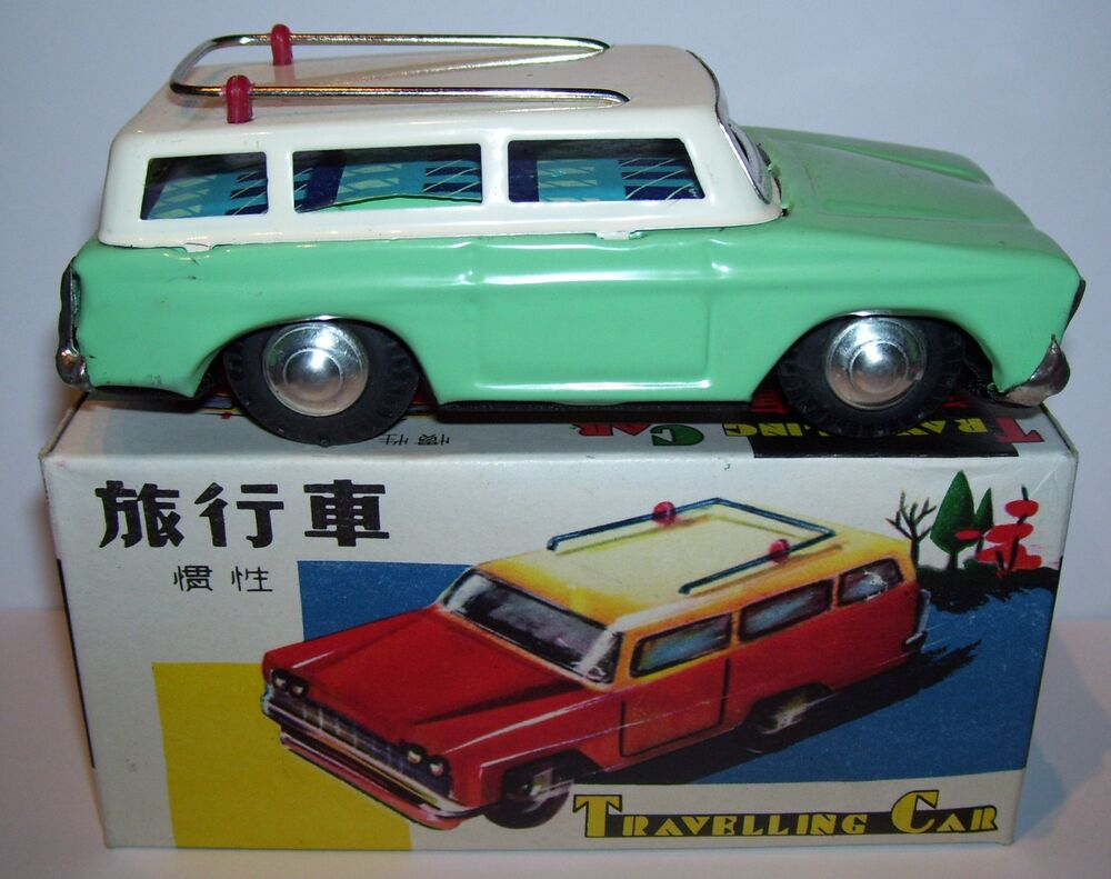 Jouet Tole Travelling Car Friction  U0026 Siren China 1960 Ref