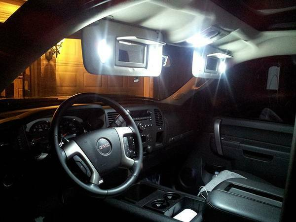 2007 2013 Chevrolet Silverado Gmc Sierra White Led Interior Kit W Sunvisor Led Ebay