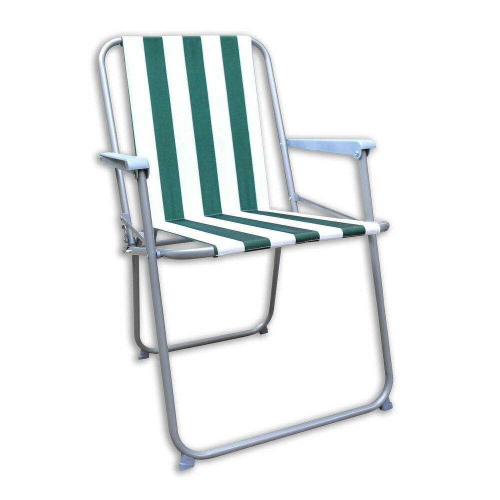 NEW GARDEN PATIO FOLDING STRIPED DECK PICNIC CAMPING BEACH BBQ PARTY CHAIR RE