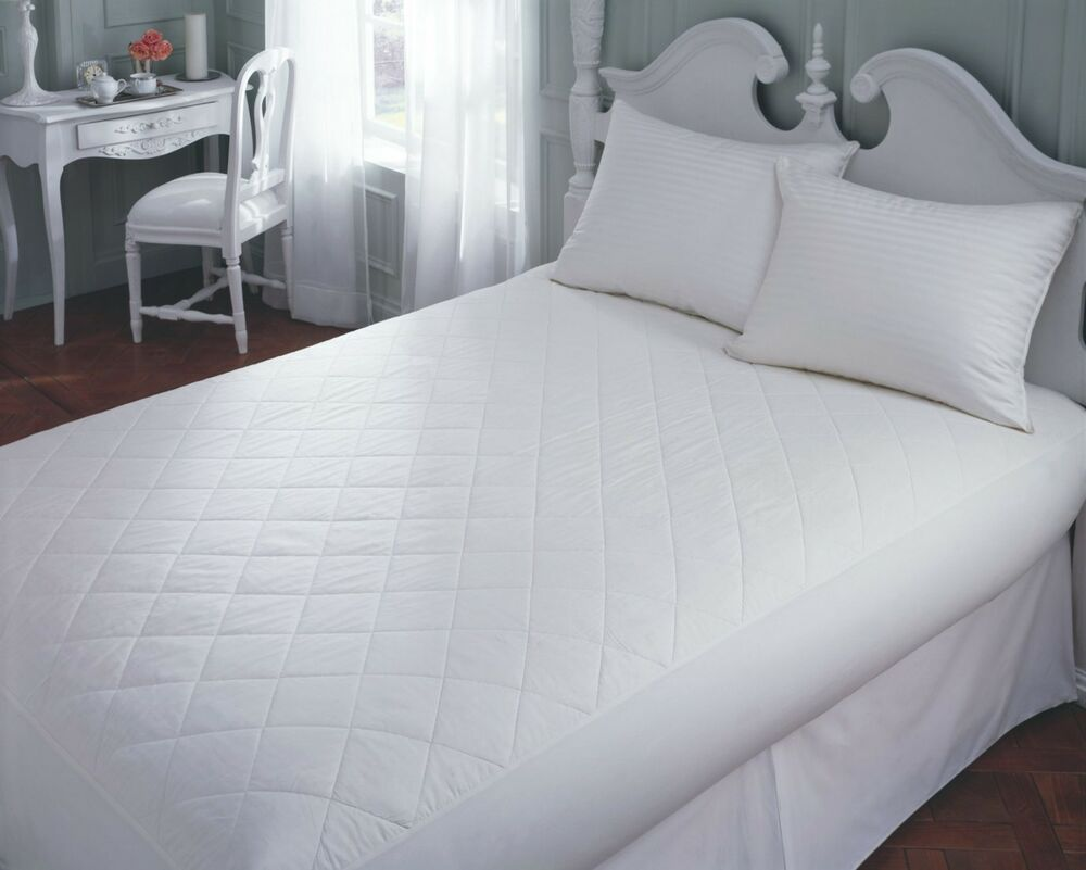 Extra Deep 16 Quot 40cm Quilted Fitted Mattress Protector
