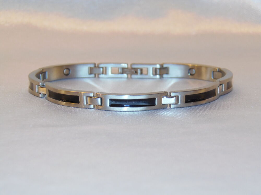 power bracelet magnetic power bracelet neg ion balancetitanium embedded 5925