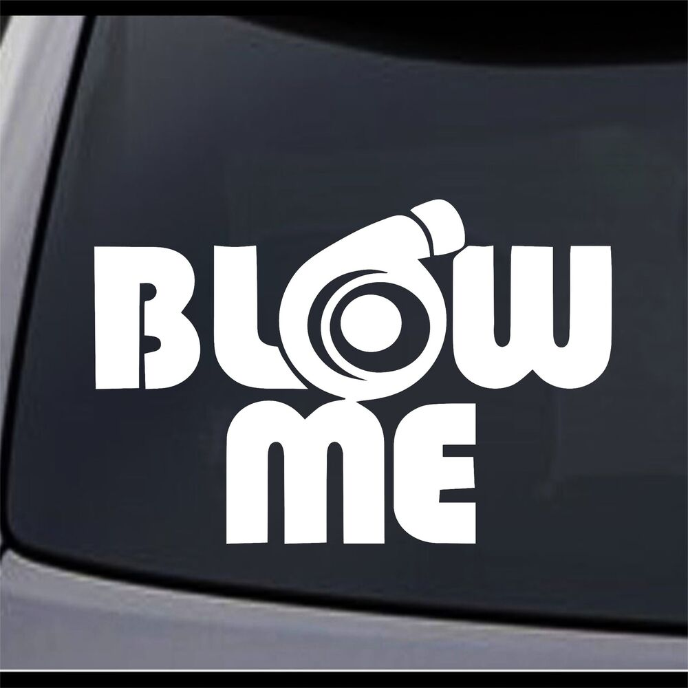 2x Jdm Blow Me Turbo Vinyl Decal Sticker Choose Color
