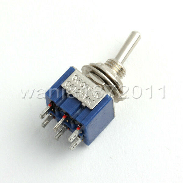 5 blue toggle switch dpdt 3 positions on off on 6mm hole. Black Bedroom Furniture Sets. Home Design Ideas