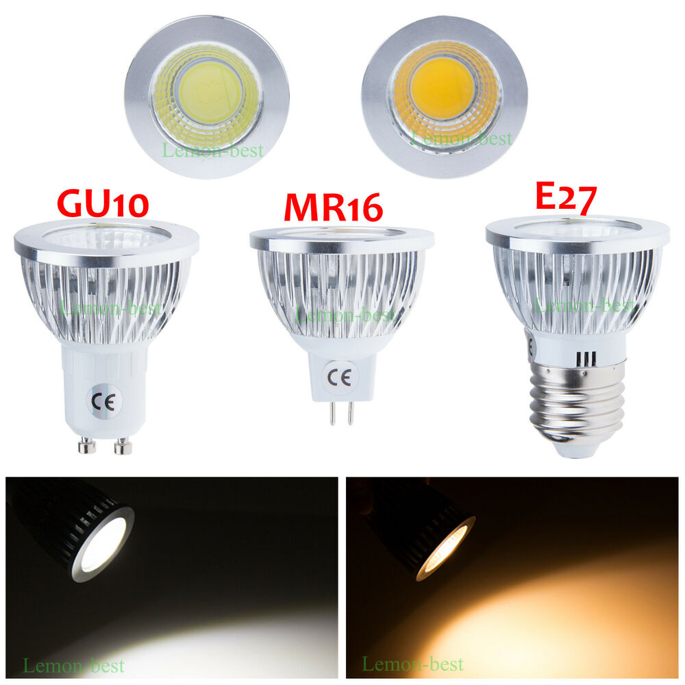 mr16 e27 gu10 6w 9w 12w bright cob led dimmable downlight globe bulbs spotlight ebay. Black Bedroom Furniture Sets. Home Design Ideas