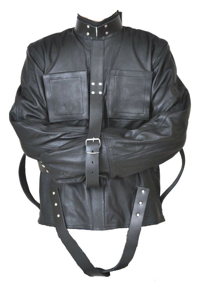 REAL LEATHER HEAVY DUTY STRAIGHTJACKET STRAIGHT STRAIT JACKET