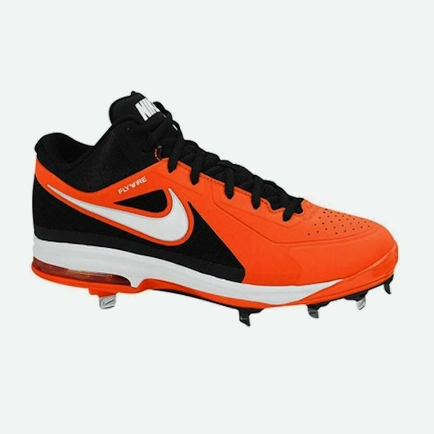 Nike Air Max Mvp Elite 3 4 Orange Black White Baseball