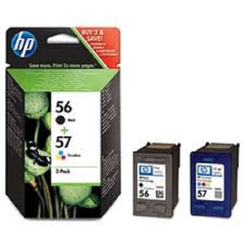 hp 56 57 black colour twin genuine deskjet t ink cartridges sa342ae 5510 new ebay. Black Bedroom Furniture Sets. Home Design Ideas