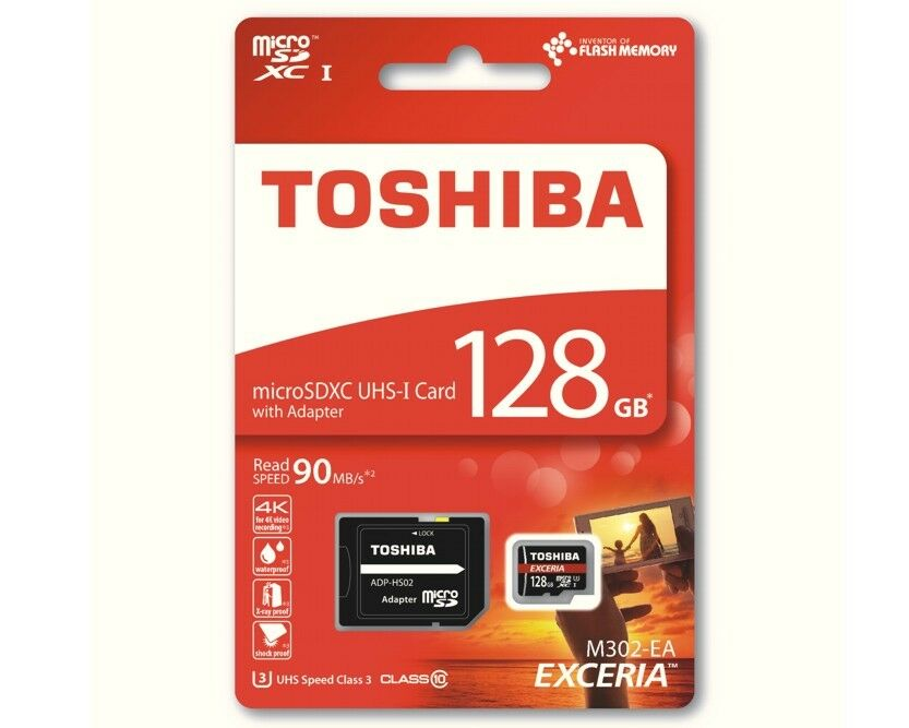 128gb micro sdxc toshiba uhs karte class 10 sd adapter. Black Bedroom Furniture Sets. Home Design Ideas