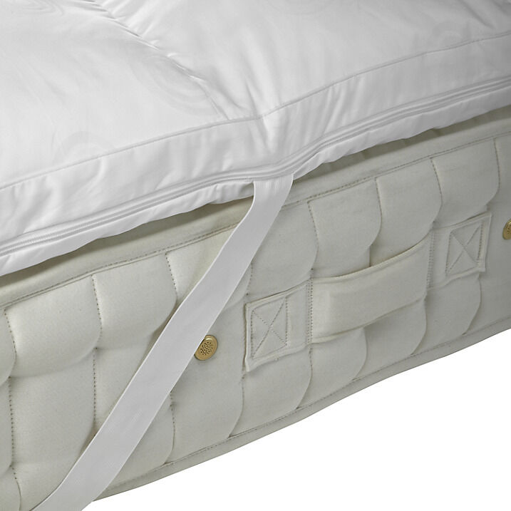 Memory Foam Mattress Toppers With Removable Elasticated Strapped Covers Ebay