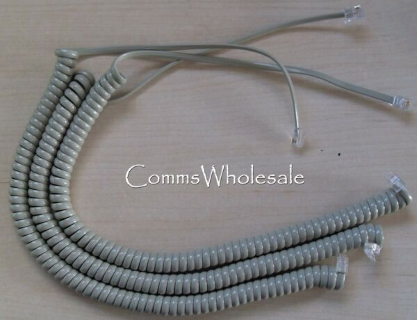 NEW x 10 Meridian Norstar Option Nortel BCM telephone curly cord handset cable