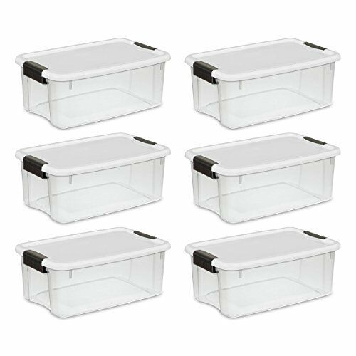 plastic storage containers 6 storage box plastic container bin organizer with lid 18 29778